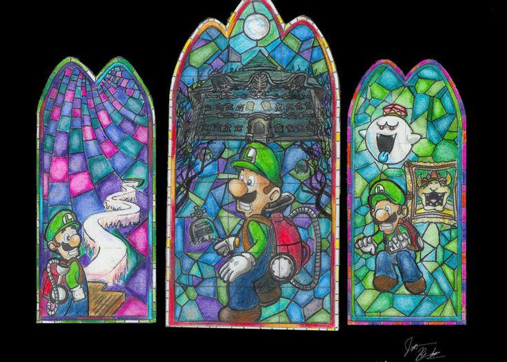 Luigi's Mansion Stained Glass  #gamecube #Nintendo #mario