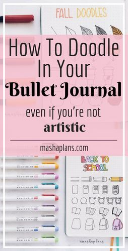 Bullet Journal Doodles: 3 Easy Steps To Become A Pro