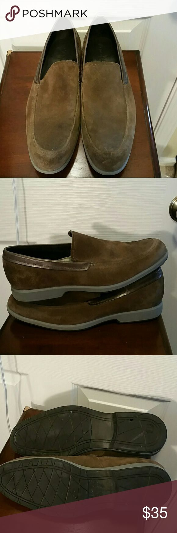 Men's Cole Hann Slip-Ons Great condition! Has some scuffs but nothing awful. Picture is included    Leather upper Cole Haan Shoes Loafers & Slip-Ons