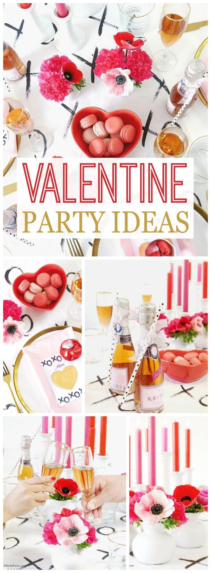 hearts valentine 39 s day modern valentine 39 s day dinner party dinners party time and birthdays. Black Bedroom Furniture Sets. Home Design Ideas
