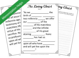 The Living Christ, study helps by Discover the Scriptures.....memorize The Living Christ.