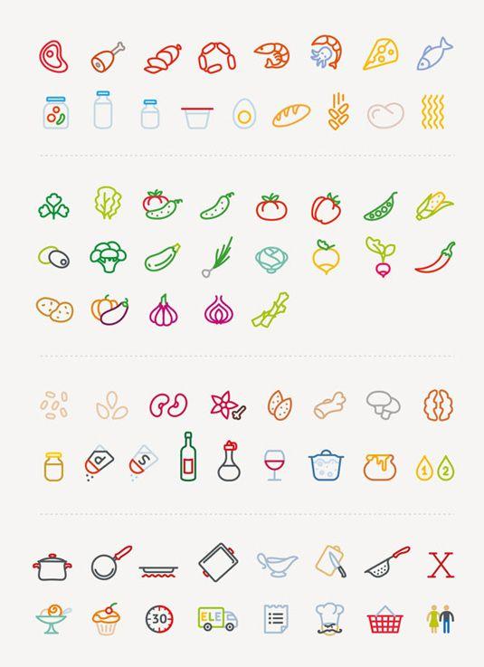 Ingenious vector icon recipe cards make cookery a joy   Branding   Creative Bloq