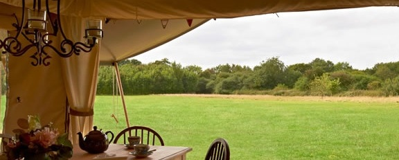 Glamping at Secret Meadows in Suffolk