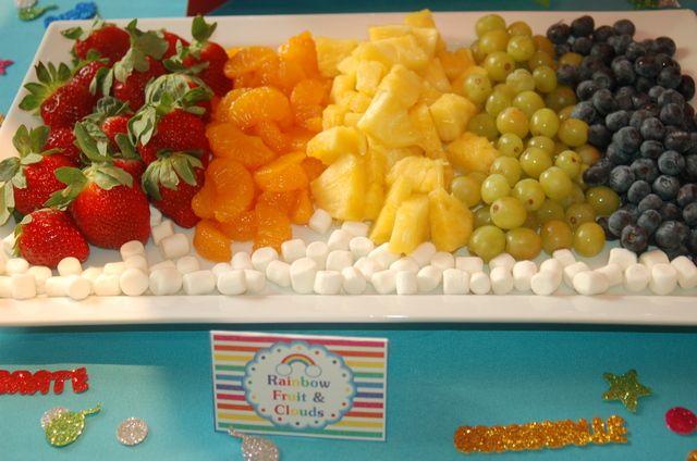 Rainbow Fruit and Clouds #rainbow #fruit