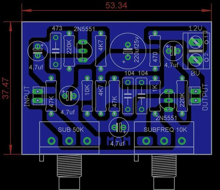 PCB Subwoofer + Frequency Adjust