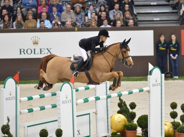 Edwina Tops-Alexander retired the legendary Itot in a ceremony in Paris today, July 6, 2014. Much deserved retirement. Simply stunning horse.