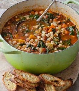 One Pot Minestrone & Garlic Bruschetta