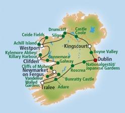 Reiseverlauf Irland Rundreise Autorundreise Majestätischer Norden - Burgen