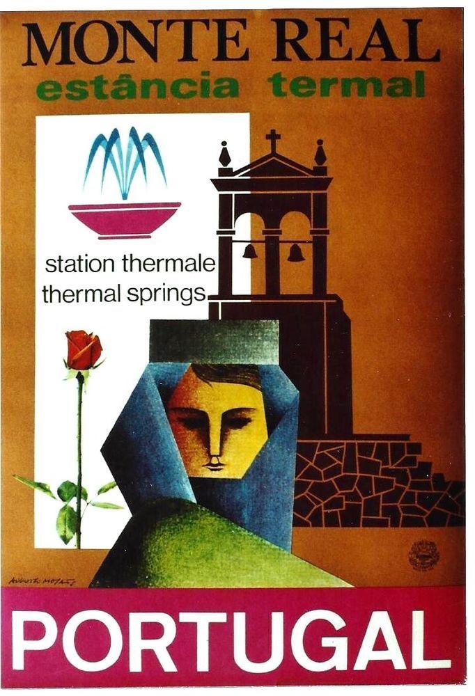 Monte Real, estância termal - 1965 - (Augusto Moya) -
