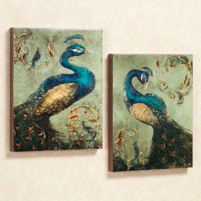 Peacock Canvas Wall Art Set