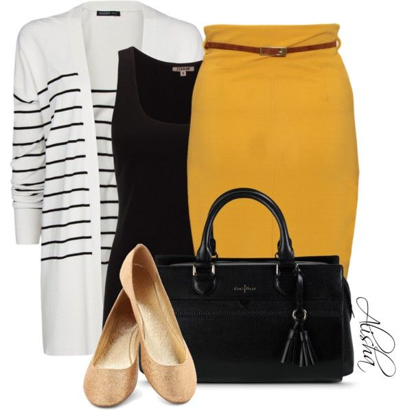 Modest mustard, created by missali-1 on Polyvore