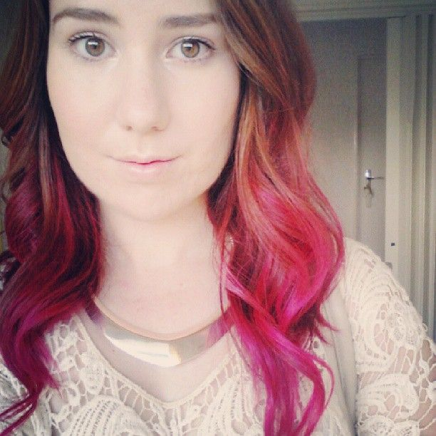 My pink ombre hair (Manic Panic hot hot pink).  Tutorial will be uploaded to Youtube this week https://www.youtube.com/user/jessicaboogle94