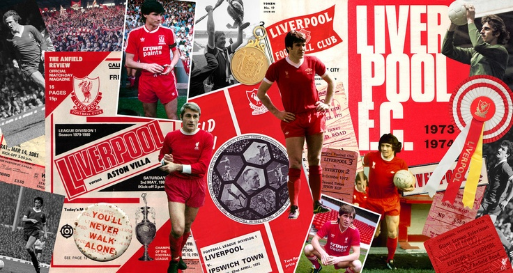 Liverpool Football Club Vintage Image Montage Wallpaper Mural Select From Our Licensed Images Or Create
