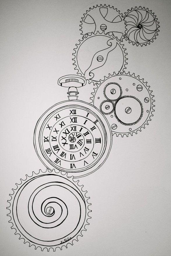 die besten 25 tattoo uhrwerk vorlagen ideen auf pinterest kompasskunst gl cklicher 21. Black Bedroom Furniture Sets. Home Design Ideas