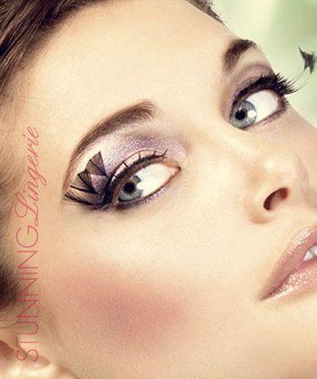 Baci Lingerie Black Feather Eyelashes
