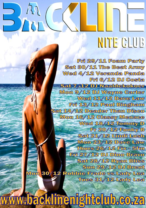 Backline Night Club | night club margate, DECEMBER 2013 party lineup!