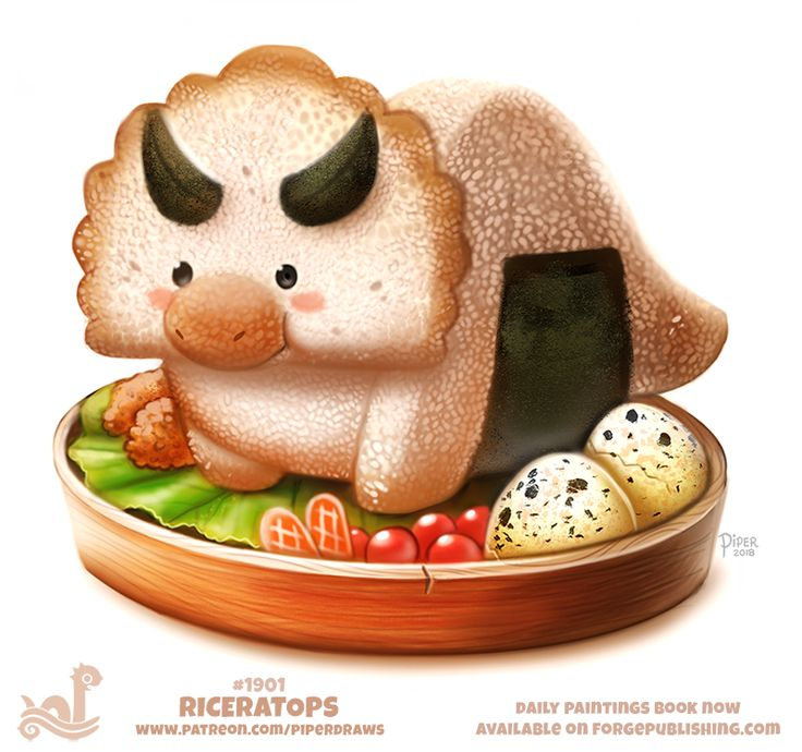 Daily Paint 1901# Riceratops by Cryptid-Creations.deviantart.com on @DeviantArt
