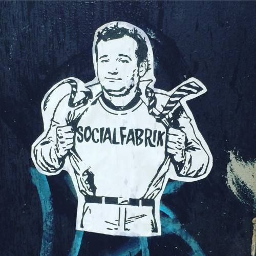 Bill on Newton St, Manchester #billmurray #socialfabrik #manchester #streetart #stickers #stickerart #tshirt #streetwear