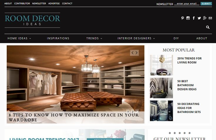 Top 100 Best Interior Design Blogs of 2016 by coveted magazine