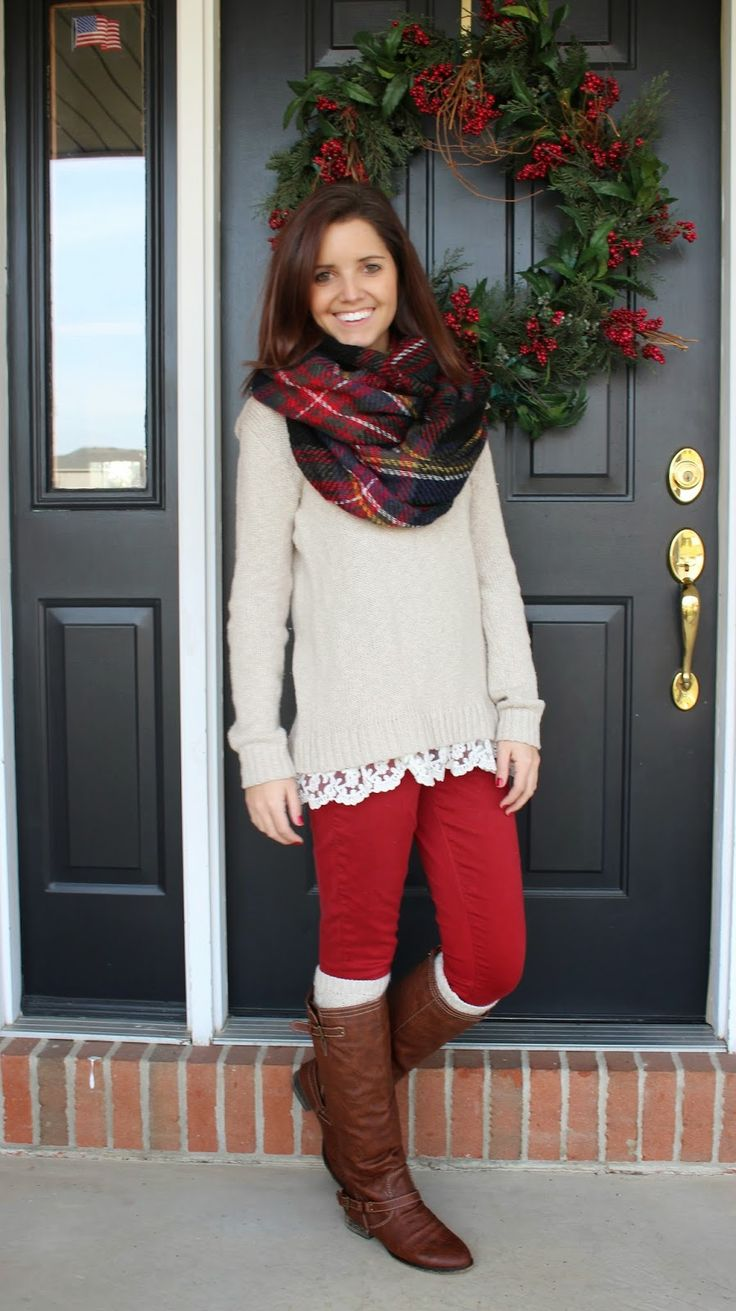 Top ideas for red pants - Classy In The Classroom Christmas Fun