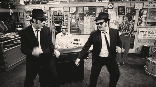The Blues Brothers & Ray Charles.