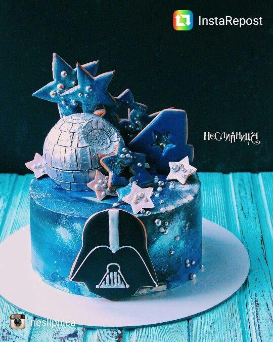 Star Wars galaxy cake