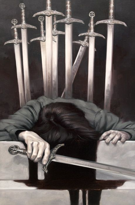 ... Ten of Swords...  stick a fork in it - it's done.  Time to cut off the projects, people, situations and attitudes that pin you down.