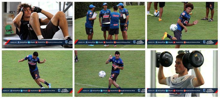 El entrenamiento de #Rayados con energía albiazul para el partido de mañana 5 de Agosto en contra del equipo de Correcaminos en #CopaMX. #VamosRayados.