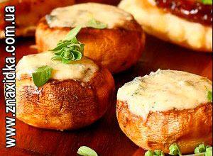 Сковорода Чудо-гриль, Рецепт: Фаршированные грибы на гриле