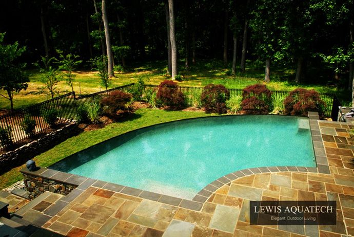Bath into 45 amazing swimming pools that can beautify your for Backyard inground pool designs