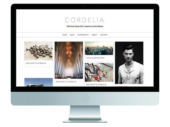 Cordelia • Responsive, Minimal, Pinterest Style WordPress Theme cordelia.gary-wilkerson.com www.etsy.com/shop/gwpress