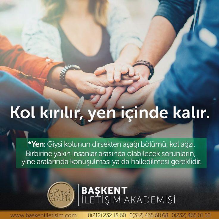 Kol kırılır, yen içinde kalır.  Yen: Giysi kolunun dirsekten aşağı bölümü, kol ağzı. Birbirine yakın insanlar arasında olabilecek sorunların, yine aralarında konuşulması ya da halledilmesi gereklidir.  (Kaynak: Instagram - baskentiletisim)  #türkçe #türkçedili #bilgi #kelime #kelimeler #anlam #özet #kökeni #güzel #güzelkelimeler #bazıkelimelerçokgüzel #lügat #doğrutürkçe