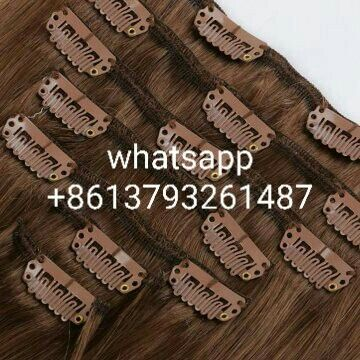 👏👏👏Sandy Hair Factory--brazilian🇧🇷virgin hair--chocolate brown #4--100g/pc clips hair--silk straight,💪💪💪plz whatsapp me if u like📱 +8613793261487,THX🤗🤗🤗