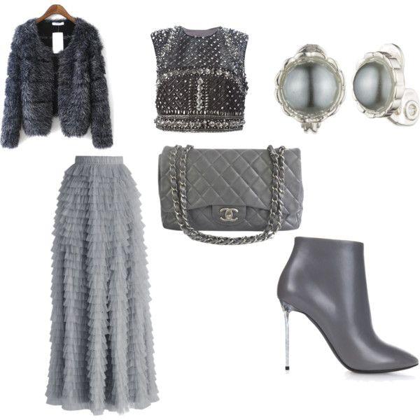 A fashion look from November 2015 by lavishsafiya featuring Alberta Ferretti, Chicwish, Balenciaga, Chanel and Anne Klein