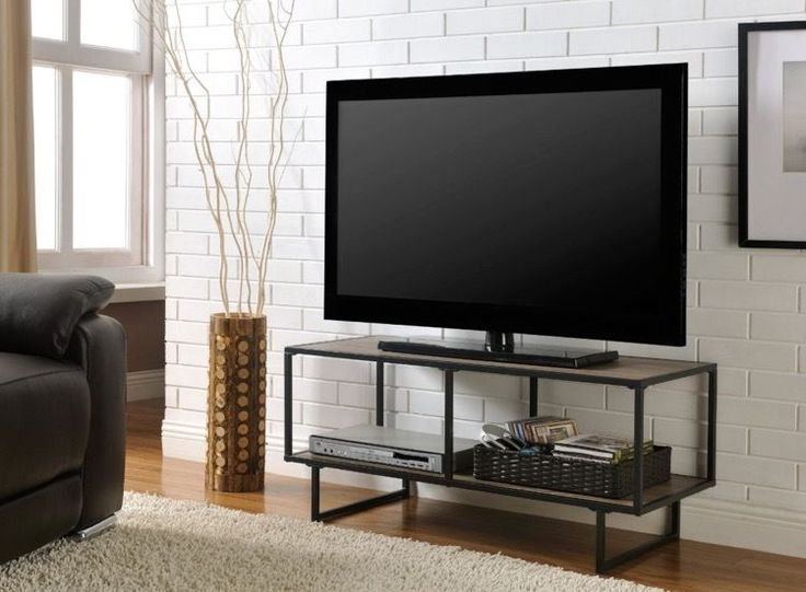 TV Stand For 42 Inch Flat Screen Metal Entertainment Center Home Loft Concept