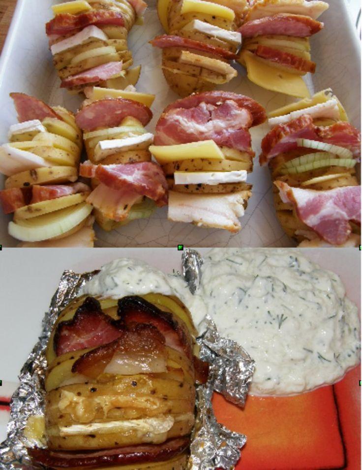 Pieczone i nadziewane ziemniaki
