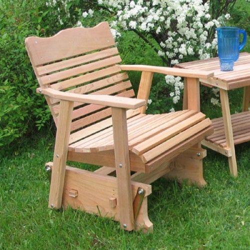 Amish Creek Furniture Classic Single Patio Glider Chair