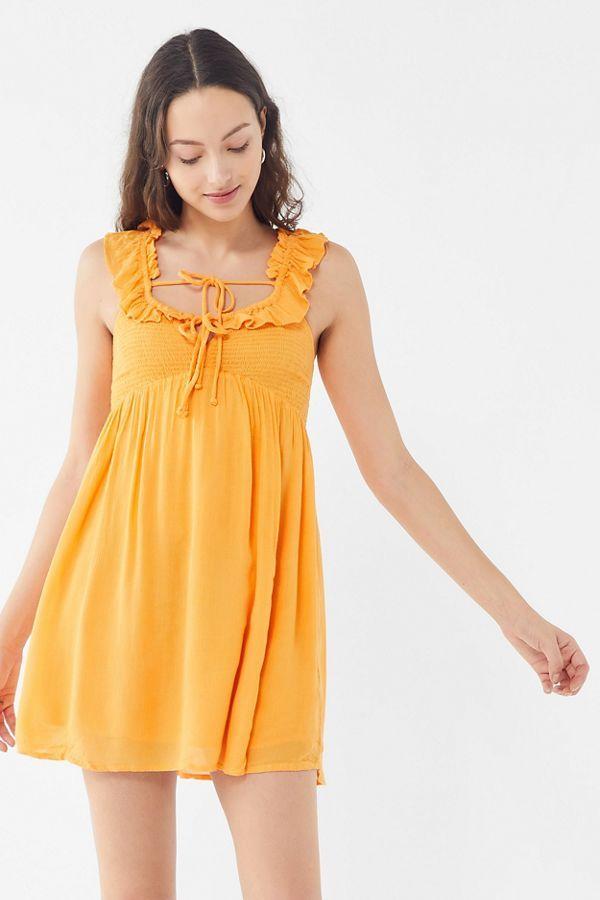 c41b1ca3aa6 UO Josephine Gauze Babydoll Mini Dress in 2019