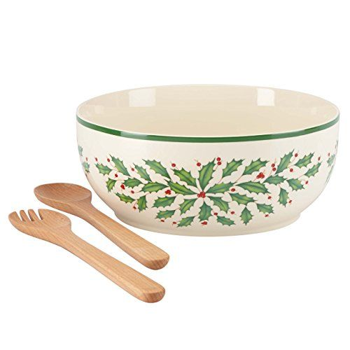 Lenox Holiday Salad Bowl with Wooden Servers Lenox http://www.amazon.com/dp/B00TV5H40Y/ref=cm_sw_r_pi_dp_FB7ywb0F09RBV