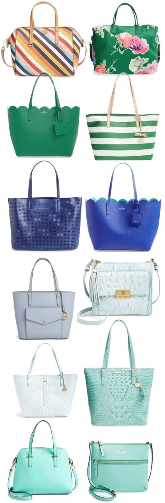 Colorful Spring Handbags - one of each please!