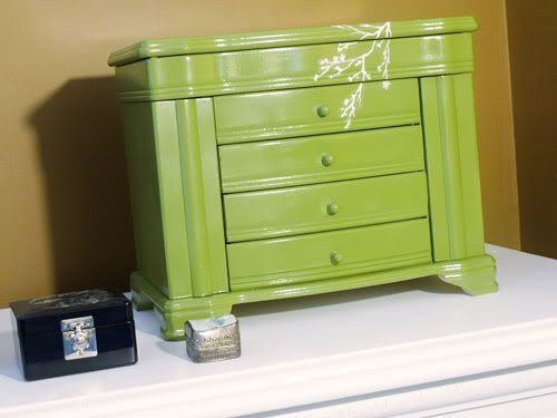 how to paint a jewelry box