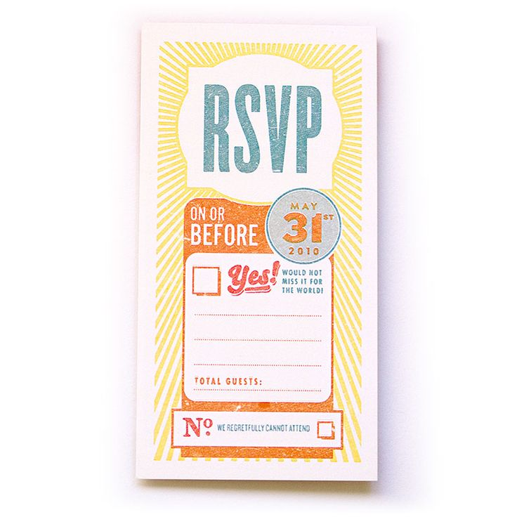 Creative Ways to RSVP - Colorful Vibes