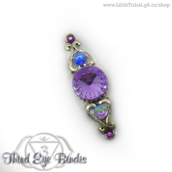 Magnificent Rivoli - purple #tribal #bindi #tribalbindi #thirdeye #thirdeyebindis #tribalfusion #ATS