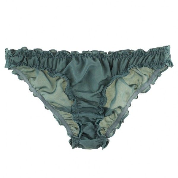 Beautiful Bottoms Crepe Silk Ruched Knicker (€32) ❤ liked on Polyvore featuring intimates, panties, underwear, lingerie, undergarments, sheer lingerie, silk knickers, underwear panties, transparent panties and scrunch panties