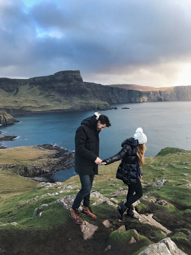 Scotland, Neist Point, Travel, Bucketlist, JessaKae, couples style, couple goals, fashion, style, cliffs, isle of skye