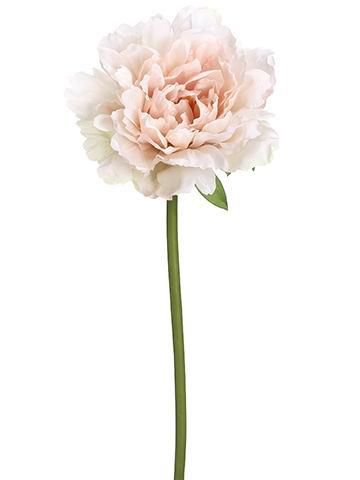 "Artificial Peony Stem in Pink Blush - 19"" Tall"