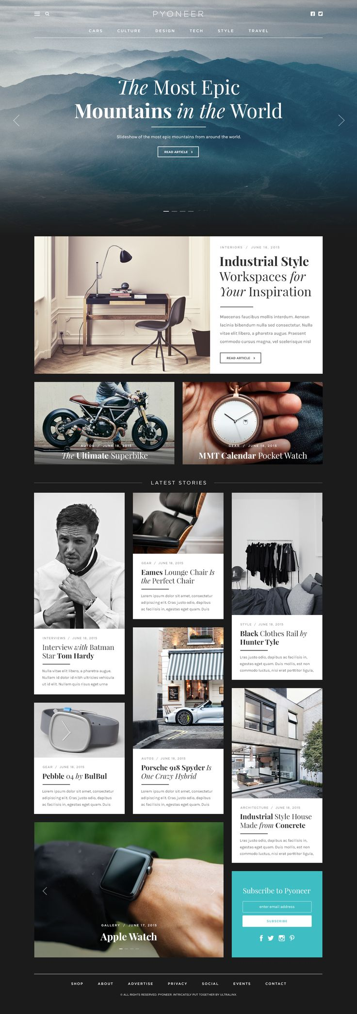 Pyoneer Blog/Magazine Layout by Oliur | dribbble