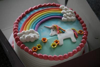 Going Frosted - rainbow unicorn cake
