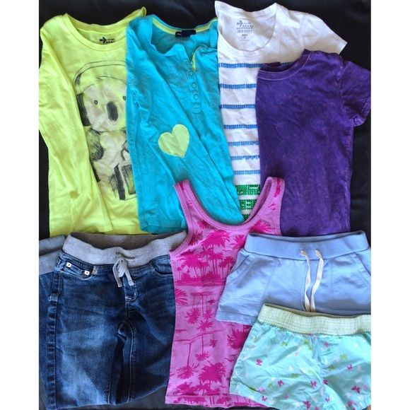 Gap Kids Justice Old Navy Girls Size M 8 Item Lot I have a ton of new and like new kids clothes right now, so this lot is currently unavailable while I rework the kids bundles to include new and different items! I will remove this once new listings are up : ) will have clothes available for girls in size S (6-7), M (8), L (10). Boys clothes in size NB to 2T (all boys clothes I'm selling are NWT or NWOT!!) Gap Kids Tops