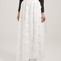 INAYAH | White Crochet #Skirt